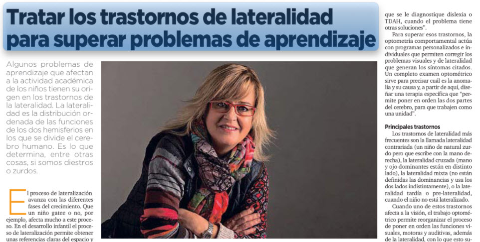 'Tratar los trastornos de lateralidad para superar problemas de aprendizaje', en La Vanguardia