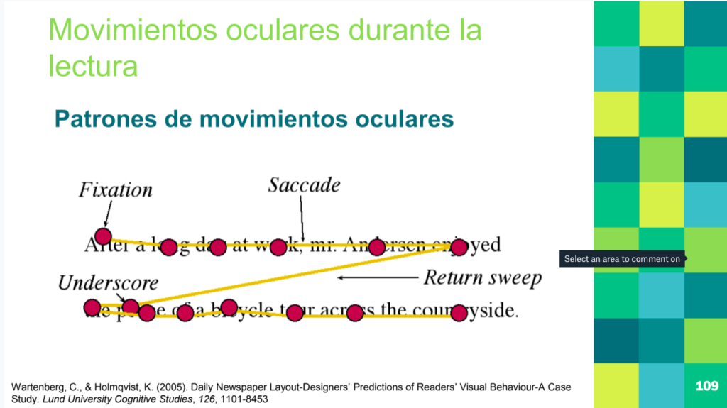 La importancia de los movimientos sacádicos